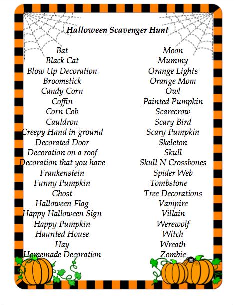 Halloween Scavenger Hunt | At Home Mama Blog